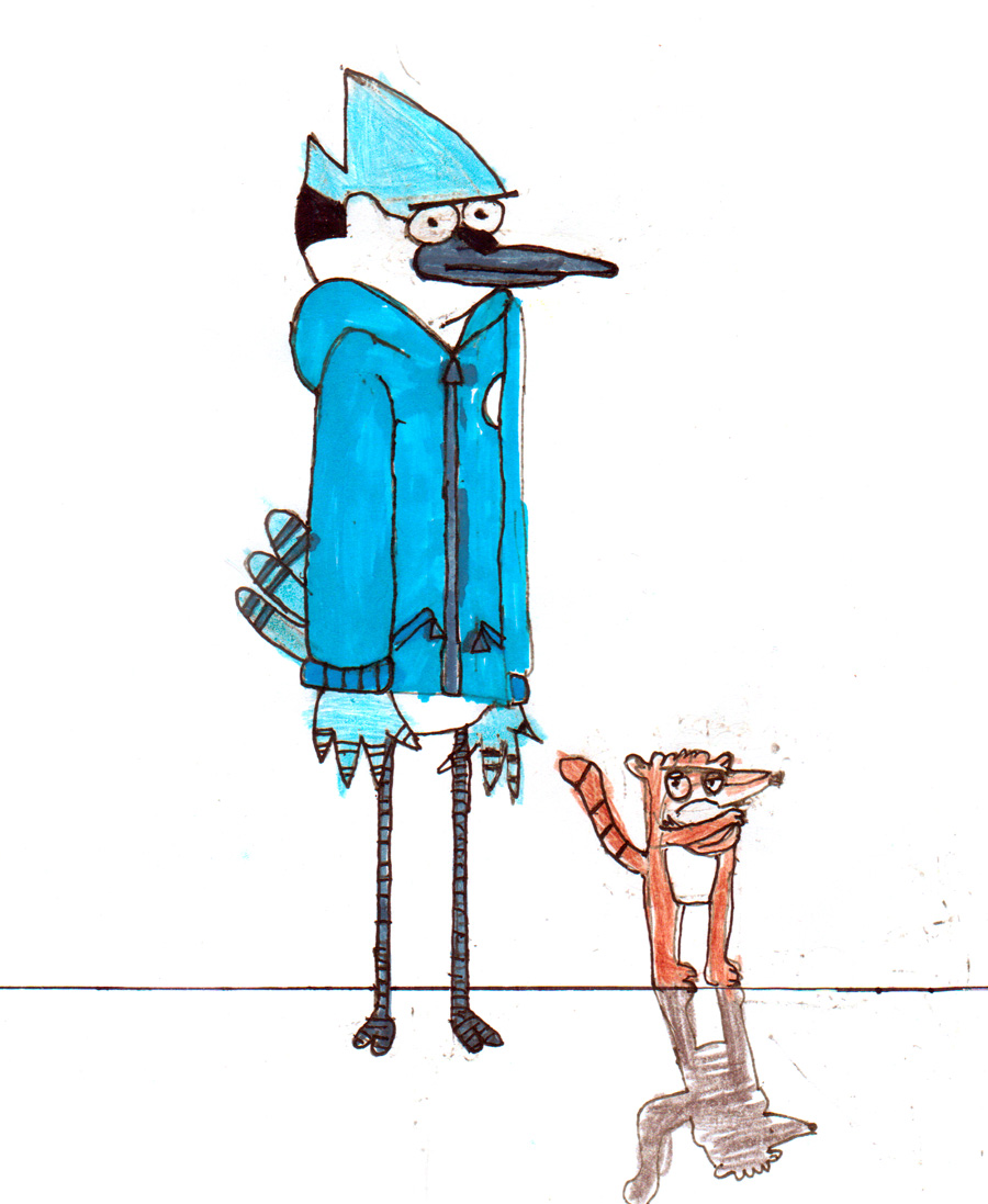 Mordecai and Rigby from regular show